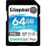 Kingston 64GB Canvas Go Plus UHS-I U3 SDXC (SDG3-64GB)