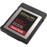 SanDisk 512 Gb Cfexpress Kart Ext Pro Sdcfe-512g-gn4nn 1700/1400 Mb/s