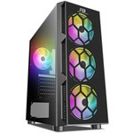 Power Boost Vk-d502t 650w 80+ Usb 3.0 Atx Tempered Glass Single Ring Rainbow Fan
