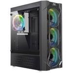 Power Boost Vk-p06b 550w Usb3.0 Siyah Double Ring Rgb Fan Meshed Kasa