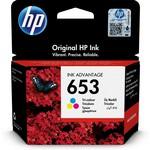 HP 3ym74ae (653) 3 Renkli Murekkep Kartusu 200 Sayfa
