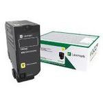 Lexmark 74c50y0 Cs720, Cs725, Cx725 Yellow Return Programme Toner Cartridge