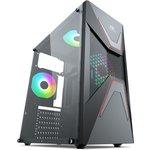 Power Boost Vk-g3621c Usb 3.0 Atx, Abs Mesh Panel, Fixed Rainbow Fan, Siyah Kasa