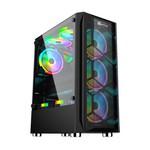 PerforMax Performax Hellfire Siy. Temp. Cam Rgb Atx 550w 80+ Mesh Panel/4 Adet Rgb