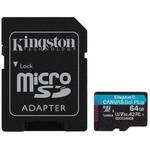 Kingston 64gb Microsdxc Canvas Go Plus 170r A2 U3 V30 Card Adp