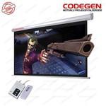 Codegen Cod-ex-20 200x200 Motorlu U.kumandalı Ithal Projeksiyon Perdesi (siyah Fonlu)