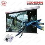 Codegen Cod-ex-30 300x225 Motorlu U.kumandalı Ithal Projeksiyon Perdesi (siyah Fonlu)