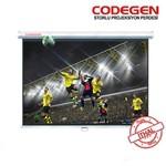 Codegen Cod-a18 180x180 Storlu Ithal Projeksiyon Perdesi (arkası Siyah Fonlu)