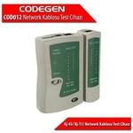 Codegen Cod012 Rj-45/ Rj-11/ Network Kablosu Test Cihazı + Pil Dahildir