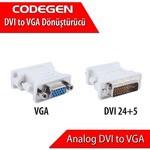 Codegen Cpr01 Vga -dvı Dönüştürücü Vga Dişi / Dvı Erkek Adaptör
