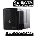 "Dark Dk-ac-dsx41u3r Quad Raidbox Esata/usb3.0 Destekli 4x3,5"" Hot Swap Das Hdd Kutusu"