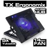 TX Ergonomix 14cm Led Fanli 4xusb Hub Nb Soğutucuacnbergo