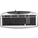 A4 Tech KB21 F Usb Multimedya Siyah-Gümüş Klavye