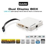 Dark DK-AC-UGA30 Çift Çıkışlı FULL HD + USB 3.0-2.0 Harici Ekran Kartı ve Ethernet