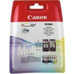 Canon PG-510+CL-511 2'li Siyah + Renkli Kartuş