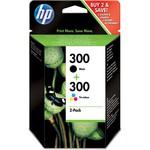 HP CN637EE 300 Siyah-Üç Renkli 2'li Kartuş