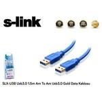 S-Link Slx-u38 1.5 Metre Usb 3.0 Data Kablosu Altın (am-am)