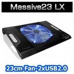 "Thermaltake Cl-n0015 Massive23 Lx 17"" 10""~17"" 23cm Mavi Ledli Fanlı Notebook Soğutucu"