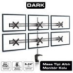 Dark Dk-ac-vm60 6 Adet Dikey Monitör Takılabien, Masa Monte Monitör Kolu