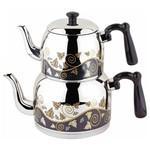Özkent Menekşe Mini Desenli Çaydanlık Takımı