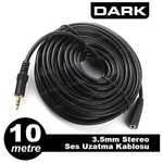 Dark DK-CB-AUEXTL1000 10 Metre 3.5mm. Jak Ses Uzatma Kablosu
