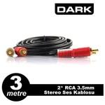 Dark DK-CB-AURCAXRCAL30 3m 2xRCA 2.5mm Stereo Ses Kablosu