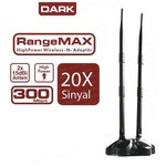 Dark Dk-nt-wdn300hp2a15 Kablosuz 300mbps 15dbi Çift Anten, Usb Sinyal Alıcı Dongle