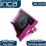 Inca 341fxp Inc-341fxk Ergonomik Usb Sessiz Notebook Stand+soğutucu Pembe