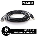 Dark USB 2.0 Yazıcı Kablosu - 5m (DK-CB-USB2PRNL500)