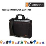 """Classone Toploading Serisi Tl1560, 15.6"""", Siyah, Notebook Taşıma Çantası"""