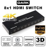 Dark Full HD Uzaktan Kumandalı HDMI Switch (DK-HD-SW8X1)