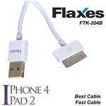 Flaxes Ftk-204b Flaxes Ipad 2 Ve Iphone 4 Data Kablosu Beyaz