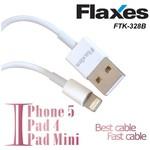 Flaxes Ftk-328b Ipad Mini/4 Iphone/5 Data Ve Şarj Kablosu Beyaz Renk