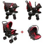 Mcrae Mc 750t Comfort Travel Sistem Çift Yönlü Lux Bebek Arabası - Kırmızı