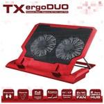 """TX Acnbergduord 11""""/17"""" Uyumlu 14cm Çift Fan 2xusb 5 Kademeli Yükseklik Laptop Soğutu"""
