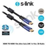 S-Link SLX-265 Slx-265 Hdmı To Hdmı 10m 1.4ver. 3d'li Gold