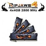 G.Skill F4-2800C16Q-16GRK RİPJAWS4 Siyah DDR4-2800MHZ CL16 16GB (4X4GB) QUAD (16-16-1