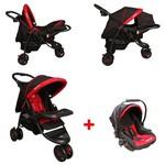 Mcrae Mc 815t Triple Jogger Travel Set 3 Tekerlekli Bebek Arabası - Kırmızı