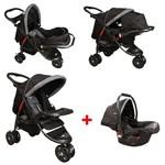Mcrae Mc 815t Triple Jogger Travel Set 3 Tekerlekli Bebek Arabası - Siyah