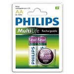 Philips R6b2rtu20-97 2000 Mah Aa Şarjlı Pil 2 Li % 100 Dolu Rechargeable