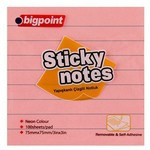 Bigpoint Yapışkanlı Not Kağıdı 75 X 75 Mm Çizgili 100 Yaprak
