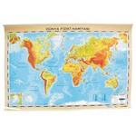 Interpano Inter Dünya Fiziki Haritası Alm.çerçeveli 70x100 Cm