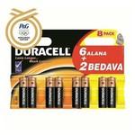 Duracell Aa Kalem Pil Alkalin 6+2 Ekonomik Paket