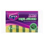 Parex Bulaşık Süngeri Klasik Yeşil 5 Adet Ekonomik Paket