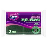 Parex Bulaşık Süngeri Klasik Yeşil Oluklu 2 Adet