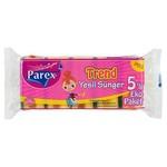 Parex Bulaşık Süngeri Trend Klasik Yeşil 5 Adet Eko Paket