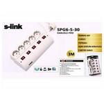 S-Link Spg6-5-30 3 Metre 5'li Akım Korumalı Grup Priz Gri