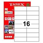 Tanex Yazıcı Etiketi 105x37 Mm 1600 Adet Model Tw-2105