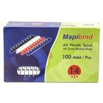 "Mapibind 100""lü 14 Mm Plastik Spiral"