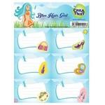 Crea Tiket Creatiket 1002 Mavi Saçlı Kız Serisi Okul Etiketi